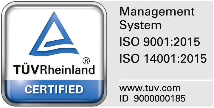 TÜVRheinland certified