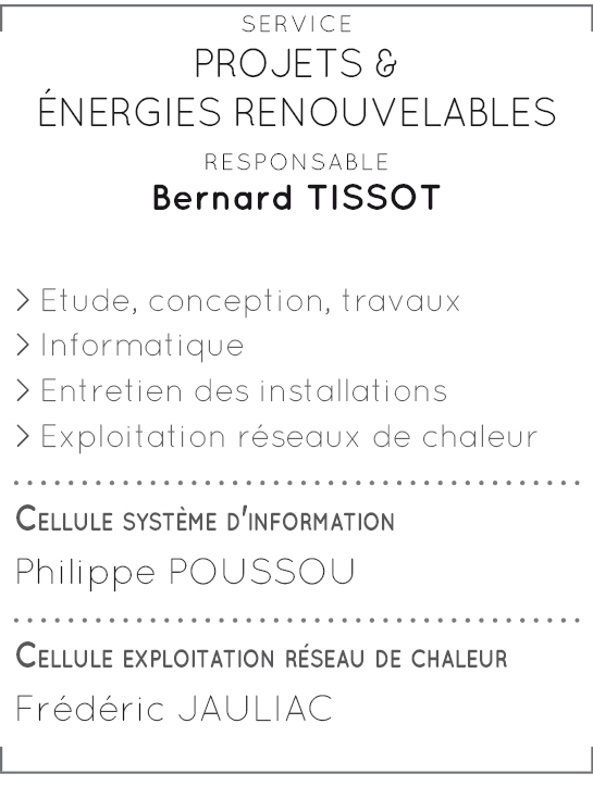 Service Projets & Energies renouvelables